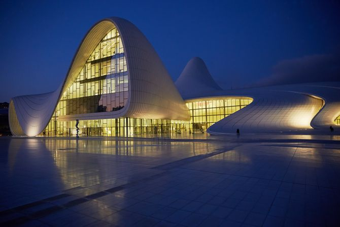 View Of Heydar Aliyev Center In Baku