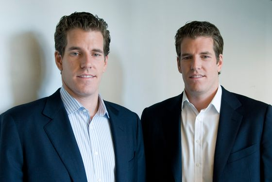 Cameron and Tyler Winklevoss. And no, we don't know which one is which.