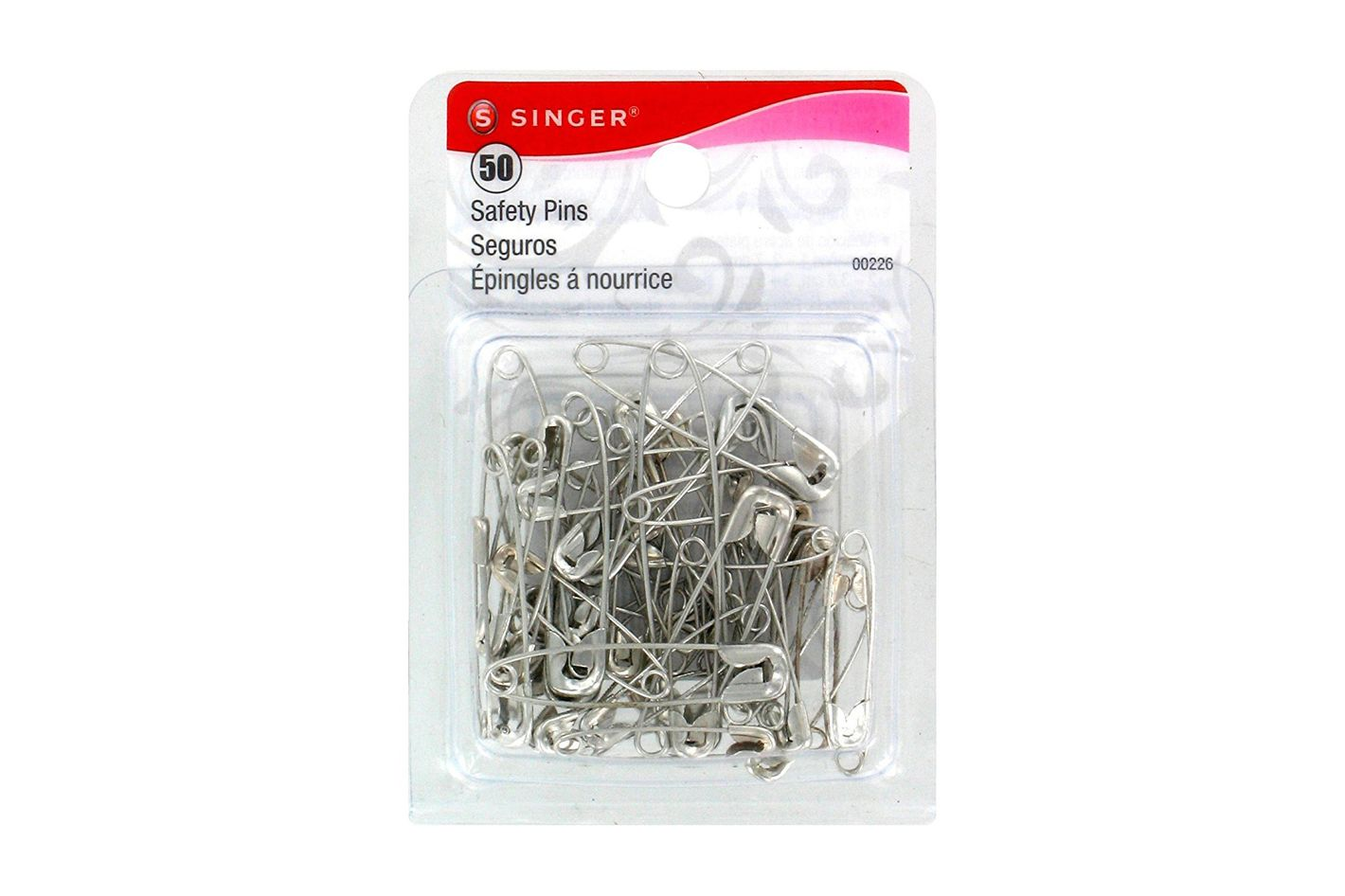 Singer Assorted Safety Pins, Multisize, 50-Count