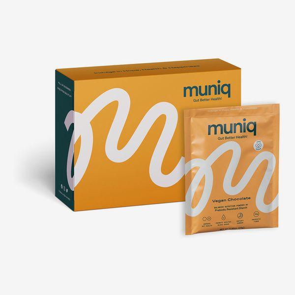 Muniq Prebiotic Vegan Chocolate Shake, 12 On-The-Go Packets