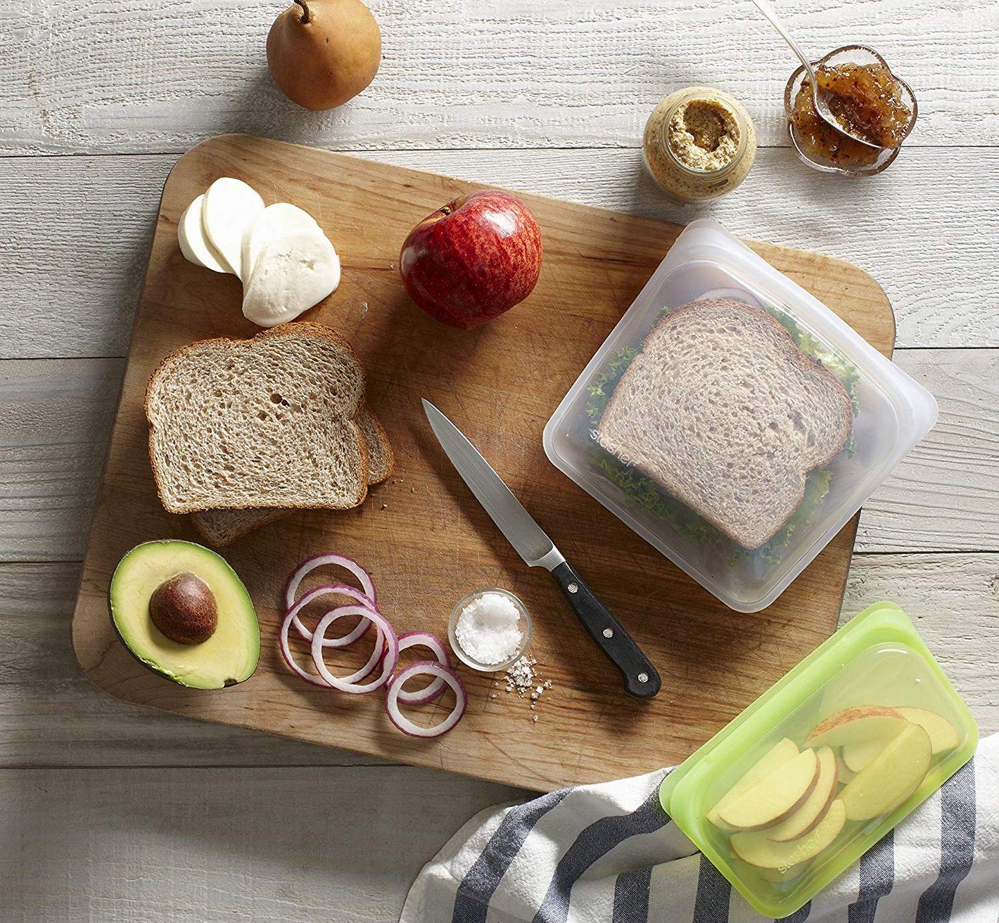 """Stasher Reusable Silicone 7"""" Food Bag"""