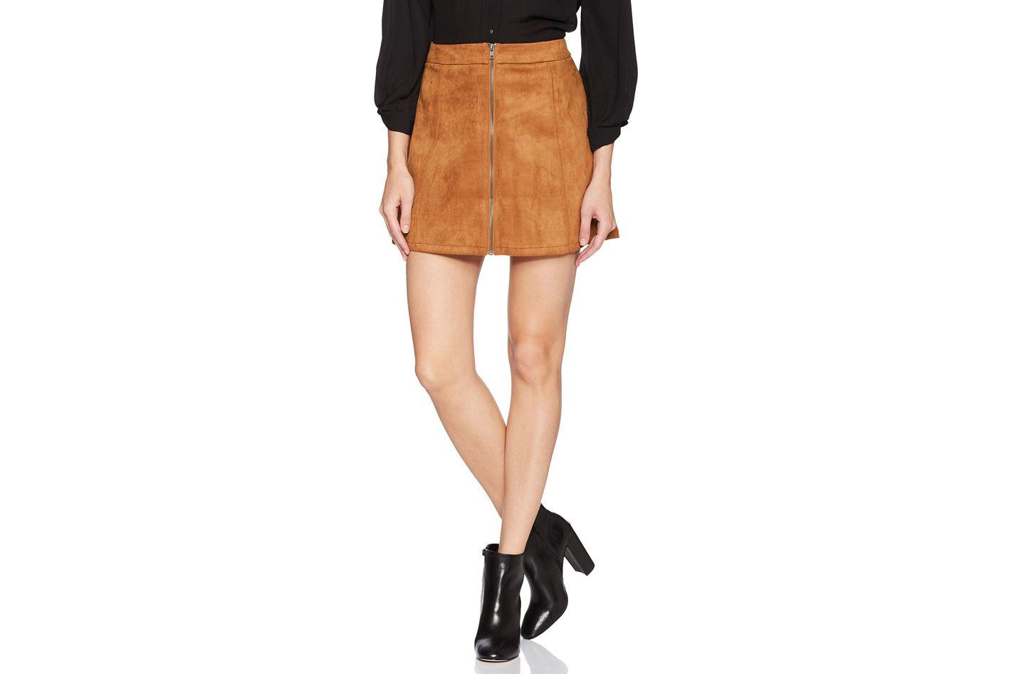 Jack by BB Dakota Women's Jenina Faux Suede Zip-Front Skirt