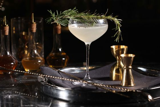 Shine bright like a diamond, or at least a cocktail made with torched rosemary oil.