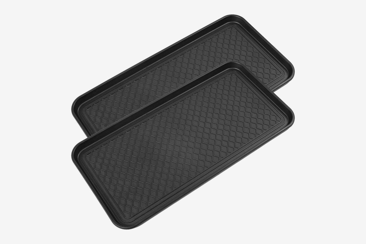 "California Home Goods Multi Purpose Black Boot Tray (30"" x 15"") — 2-Pack"