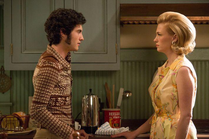 Glen and Betty in the <em>Mad Men</em> episode