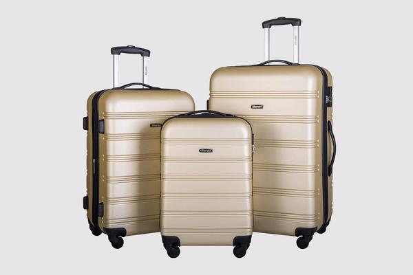 Merax 3 Pcs Luggage Set Expandable Hardside Lightweight Spinner Suitcase with TSA Lock