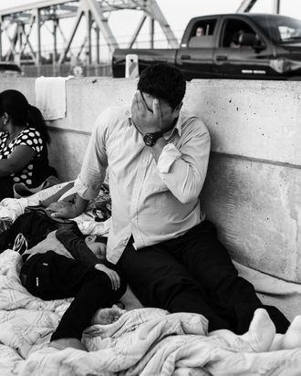 Migrant at Southern border.