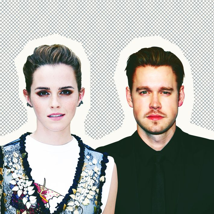 Emma Watson and Chord Overstreet.