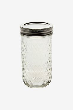 Ball Quilted Crystal Jars with Bands and Lids, 12 oz, 12 Pack