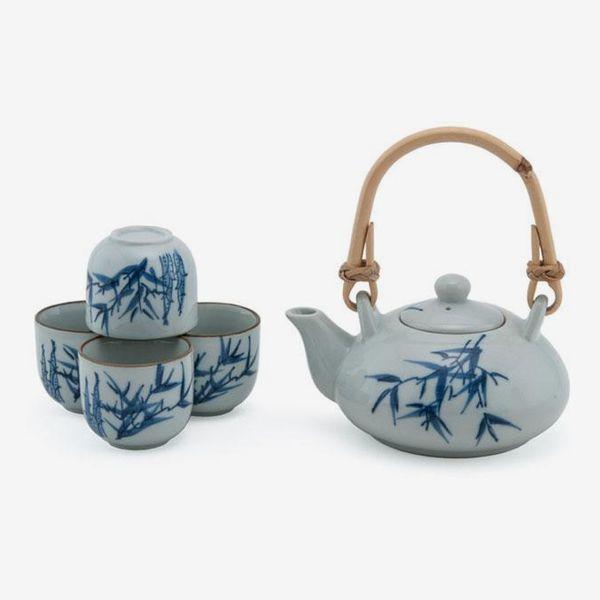 Pearl River Mart Bamboo Design Tea Set