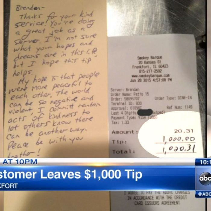 A very serious random act of kindness.