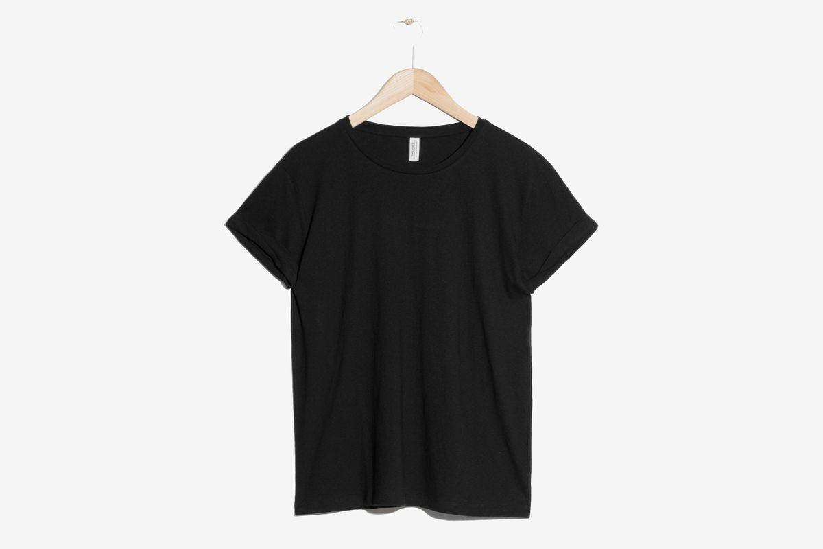Think Outside The Box Black Square Design Womens T-Shirt