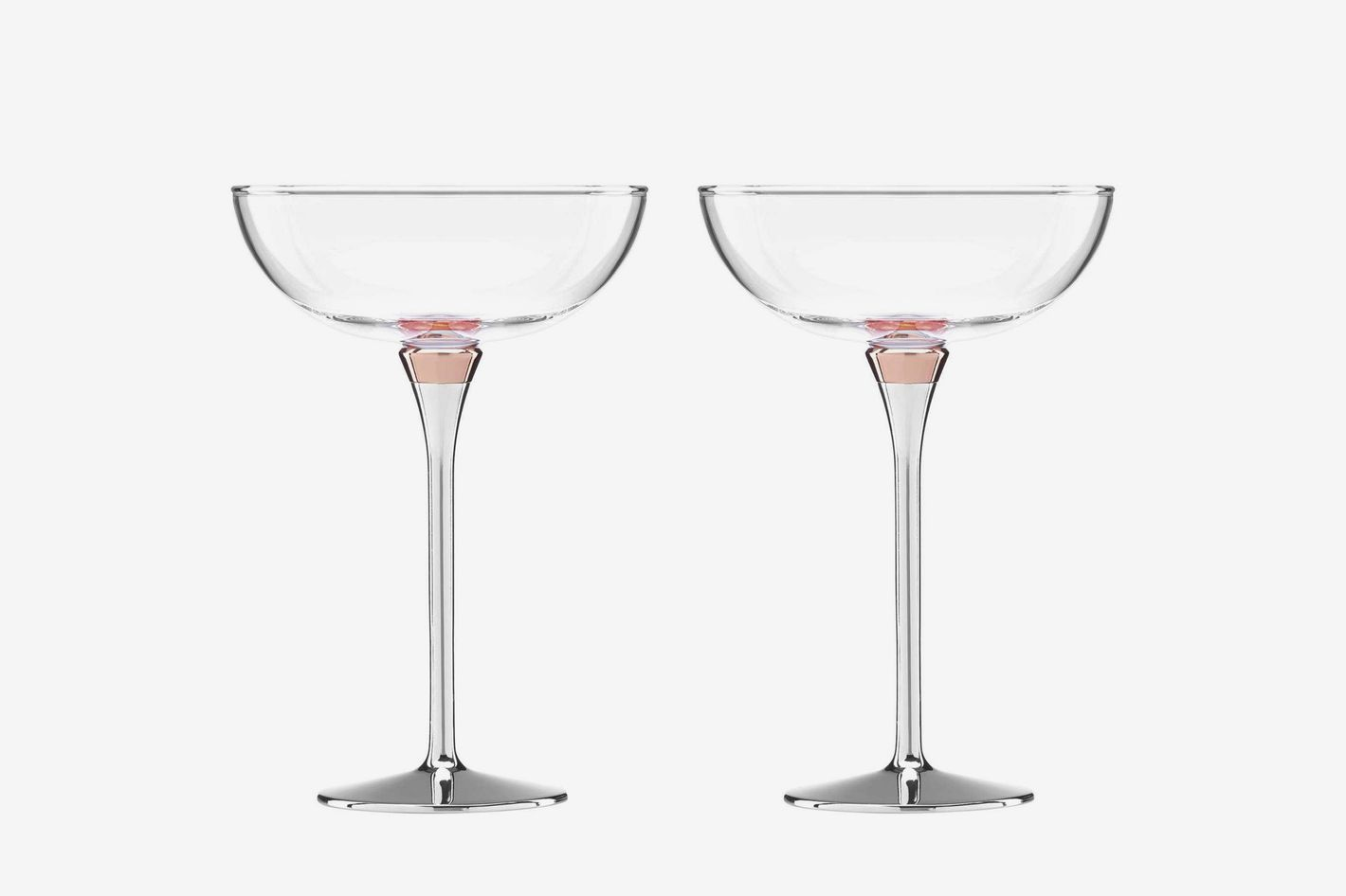 Kate Spade New York Rosy Glow Champagne Saucers (Set of 2)