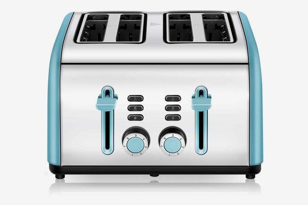 CUSINAID 4 Wide Slots Stainless Steel Toaster