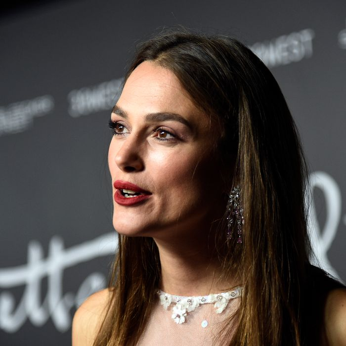 Keira Knightley at the premiere of Colette.