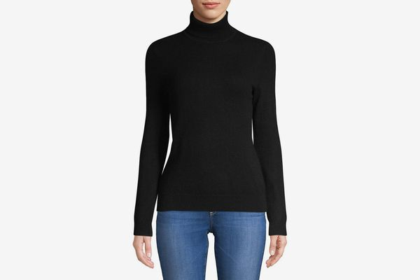 Lord & Taylor Petite Cashmere Turtleneck Sweater