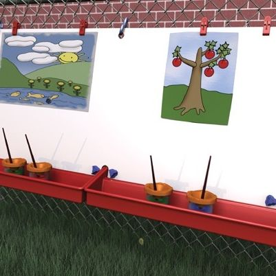 ChildBrite Hanging Fence Easel - Two-Station