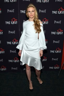 "Actress and Writer Brit Marling attends the New York premiere of ""The East"" at Sunshine Landmark on May 20, 2013 in New York City."