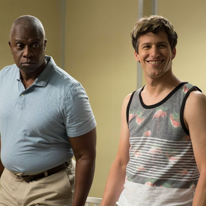 "BROOKLYN NINE-NINE: L-R: Andre Braugher and Andy Samberg in the ""Coral Palms Pt. 2"