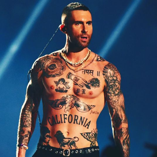 Digging The Off Red Vintage Color And The Lil White: Did You See Adam Levine's Underwear At The Super Bowl?