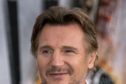 "Actor Liam Neeson arrives for the premiere of ""Battleship,"" May, 10, 2012 at the NOKIA Theatre at L.A. LIVE in downtown Los Angeles."