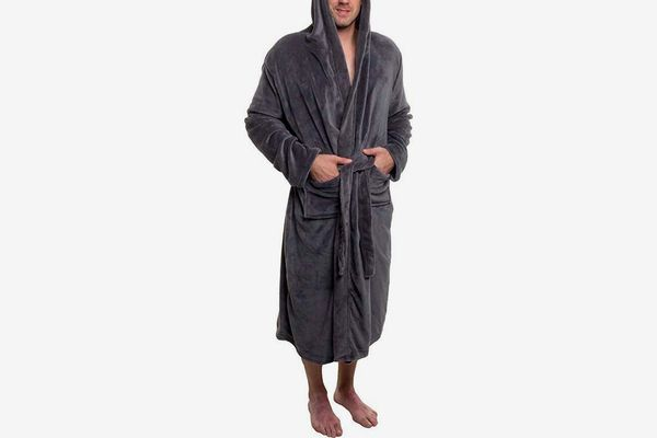 Ross Michaels Mens Hooded Robe - Plush Shawl Kimono Bathrobe