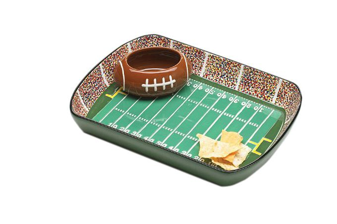 Burton & Burton Football Stadium Chip And Dip Serving Set