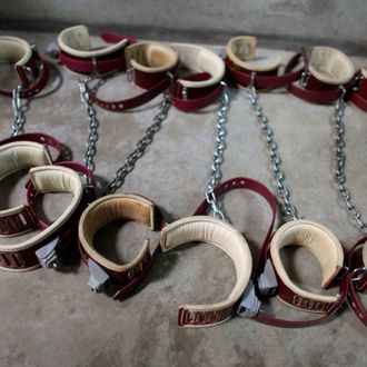 In this photo, reviewed by the US Military, aleg shackles pictured on the floor at Camp 6 detention center, at the US Naval Base, in Guantanamo Bay, Cuba, January 21, 2009. The Guantanamo Bay war crimes court came to an abrupt halt Wednesday as military judges granted US President Barack Obama's request to suspend proceedings while he reviews his predecessor's strategy for prosecuting terrorists.