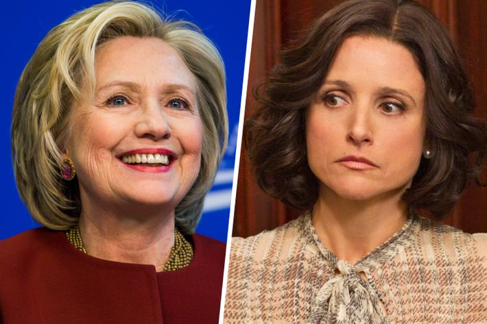 Hillary Clinton and Veep's Julia Louis-Dreyfus.