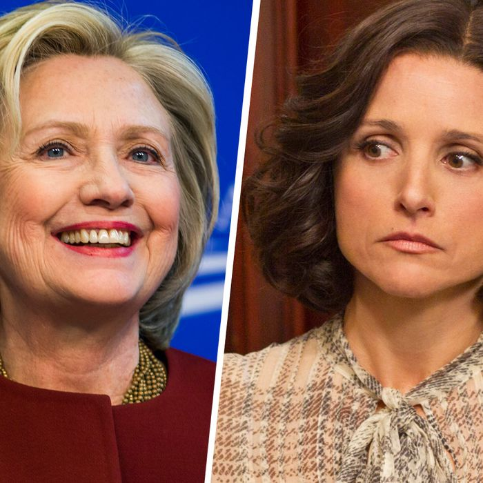 Hillary Clinton and Veep's Julia Louis-Dreyfus.