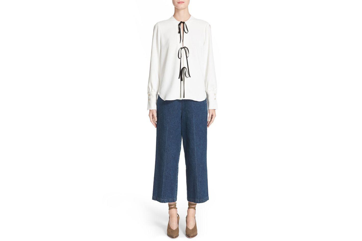 Rachel Comey Limber High Waist Crop Straight Leg Jeans