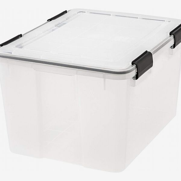 Iris Weathertight Storage Box, 46 Quarts, Clear