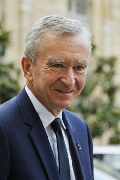 Luxury group LVMH CEO Bernard Arnault leaves the Matignon Hotel in Paris after a meeting with French Prime minister Jean-Marc Ayrault, on September 5, 2012.