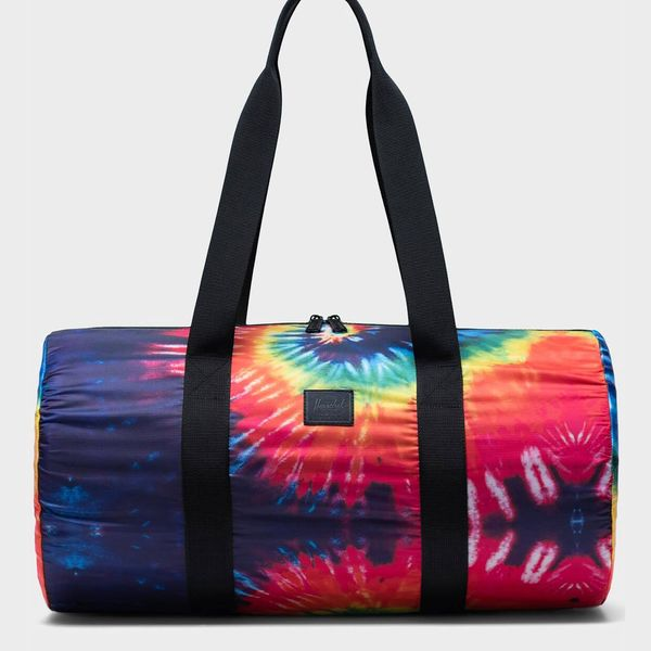 Herschel Packable Duffle in Rainbow Tie Dye