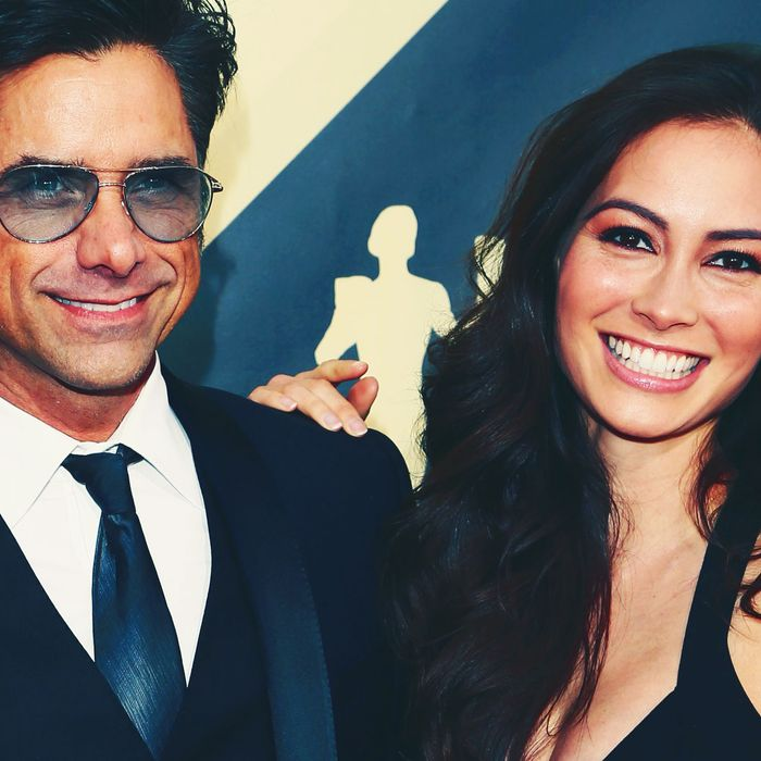John Stamos and Caitlin McHugh.