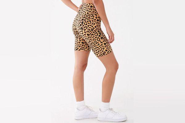 Forever 21 x Baby Phat Leopard Print Biker Shorts