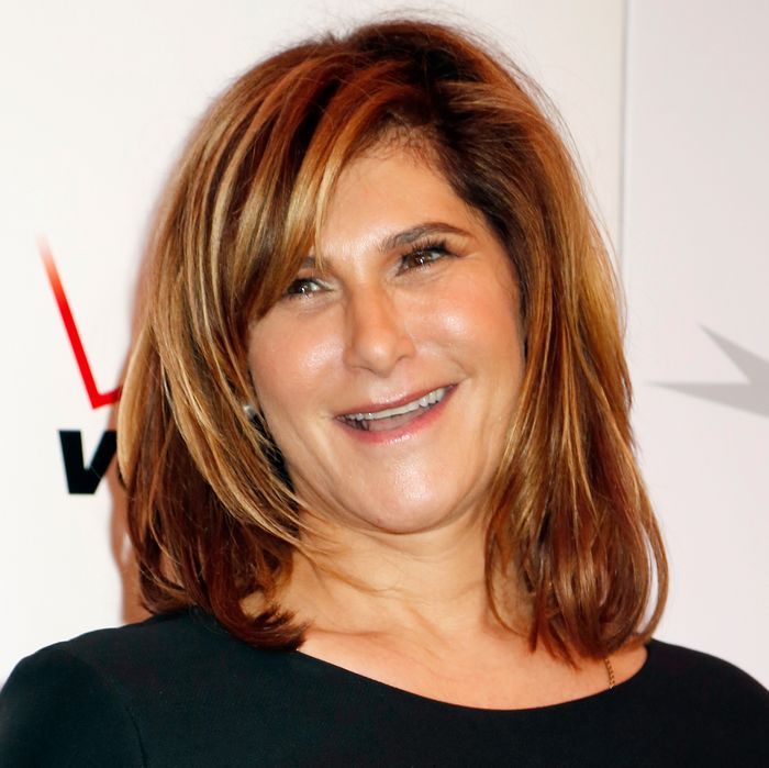 10 Jan 2014, Los Angeles, California, USA --- Amy Pascal, chairman of Columbia Pictures, arrives at the AFI Awards 2013 honoring excellence in film and television in Beverly Hills, California January 10, 2014. REUTERS/Fred Prouser (UNITED STATES - Tags: ENTERTAINMENT HEADSHOT BUSINESS) --- Image by ? FRED PROUSER/Reuters/Corbis