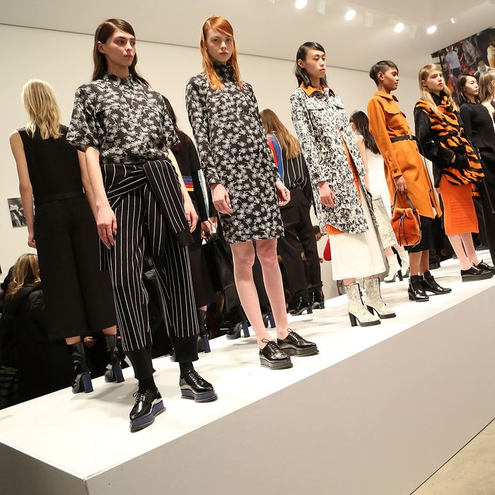 Opening Ceremony's fall 2015 presentation, which Shelley cast.