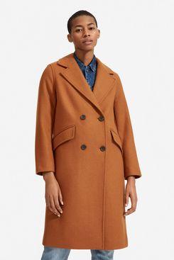 Everlane Italian ReWool Overcoat, Toffee