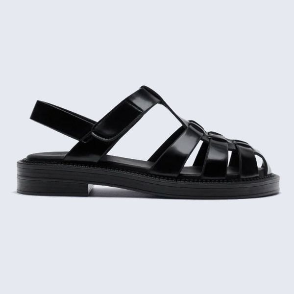 Zara Low Heel Fisherman Sandals