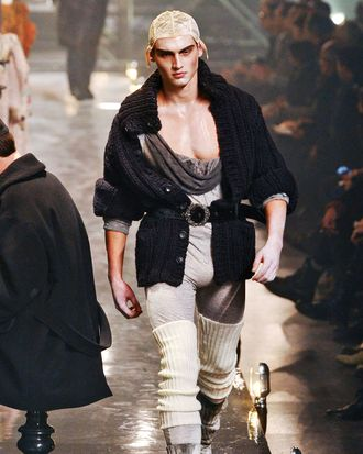 John Galliano, fall 2011 — or what may be one of the last runway looks designed by Galliano for some time.