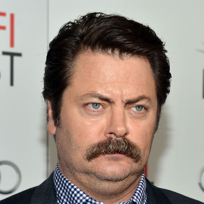 Nick Offerman, the official upper lip of Movember.