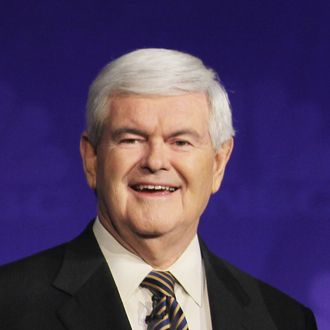 Former speaker of the house Newt Gingrich prior to a debate hosted by CNBC and the Michigan Republican Party at Oakland University on November 9, 2011 in Rochester, Michigan.