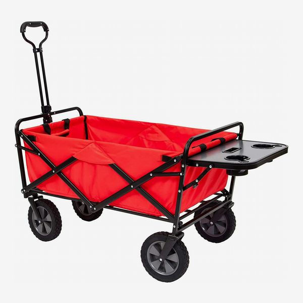 Mac Sports Collapsible Folding Utility Wagon Cart with Table