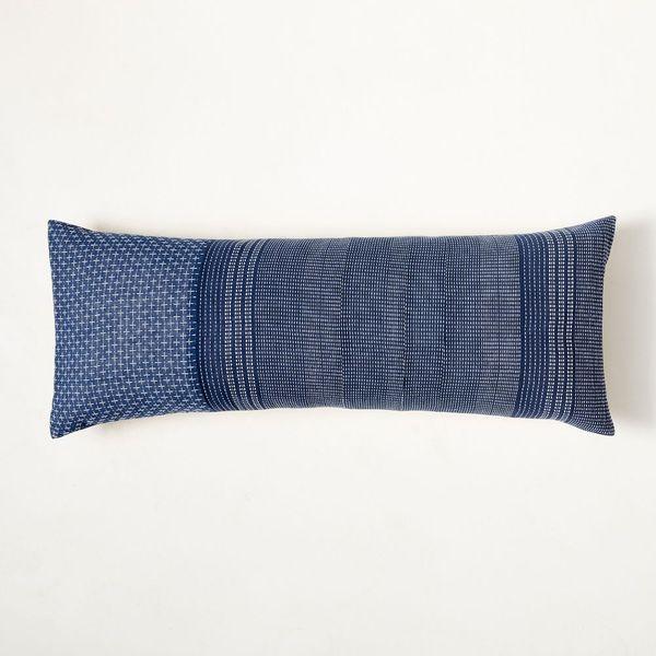 West Elm Woven Kantha Pillow Cover