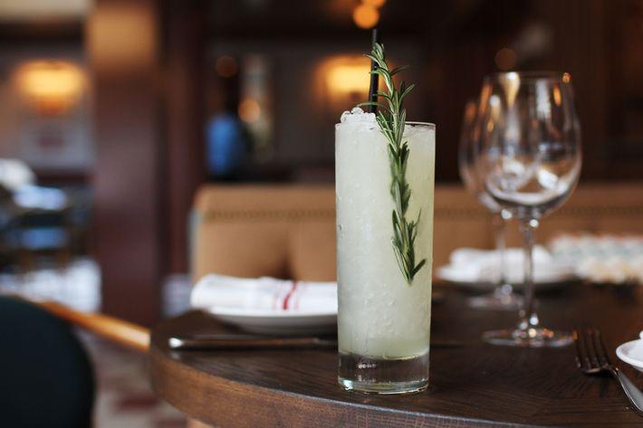 Giulietta's: almond vodka, lemon, fig agave, and salted rosemary.