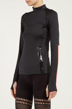 Adidas by Stella McCartney Run Logo-Print Stretch-Jersey Top