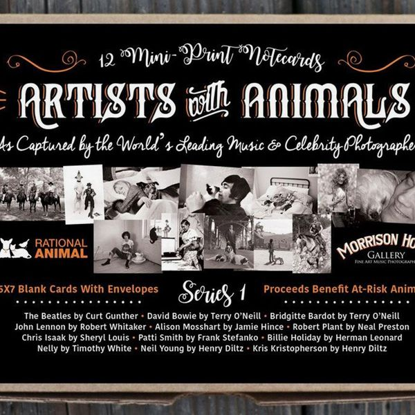 Artists With Animals Mini Print Note Cards, Series 1