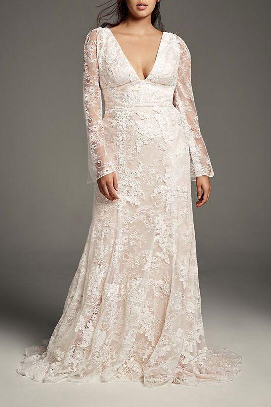 White by Vera Wang Bell Plus Size Wedding Dress