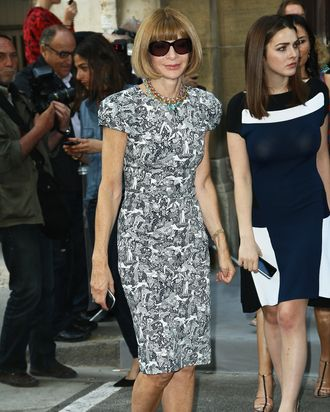 Anna Wintour attends the Christian Dior Haute-Couture Show as part of Paris Fashion Week Fall / Winter 2013 on July 2, 2012 in Paris, France.